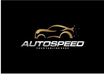 Auto Speed Logo Template Design Vector, Emblem, Design Concept, Creative Symbol, Icon