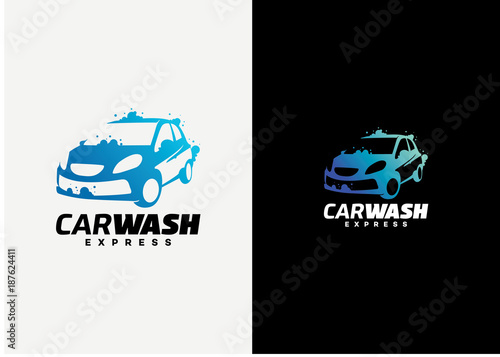 Car Wash Logo Template Design Vector Emblem Design Concept