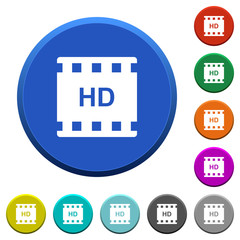 HD movie format beveled buttons