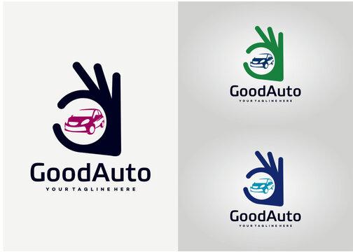 Good Car Logo Template Design Vector, Emblem, Design Concept, Creative Symbol, Icon