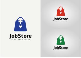 Jobs Store Logo Template Design Vector, Emblem, Design Concept, Creative Symbol, Icon