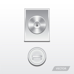 Security door knob, Modern design, Vector, Illustration