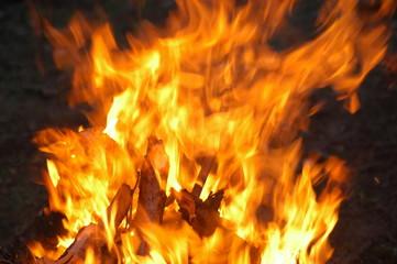 Poster de jardin Texture de bois de chauffage blaze fire flame texture background