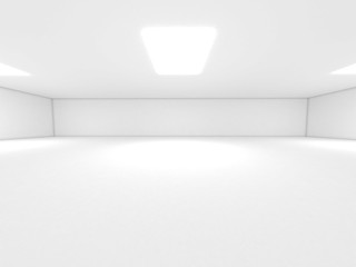 White room Spotlight and empty space 3D render