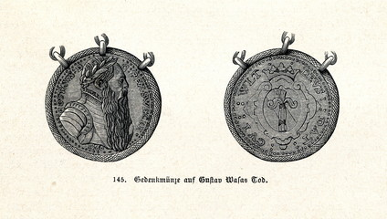 Medal dedicated to the death of Gustav I of Sweden (from Spamers Illustrierte  Weltgeschichte, 1894, 5[1], 334)