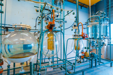 Equipment for the preparation of the acid electrolyte in Chemical Laboratory