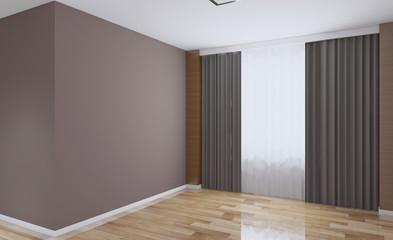 Modern Empty  office Cabinet. Meeting room. 3D rendering.