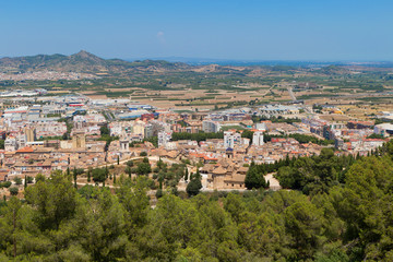 View over Xativa town