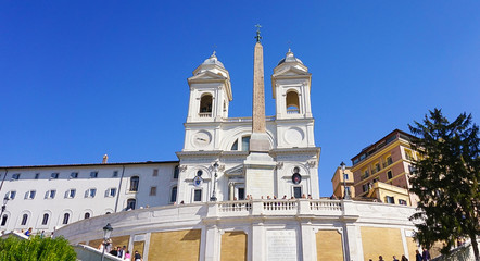 The Trinita dei Monti in Rome, Italy
