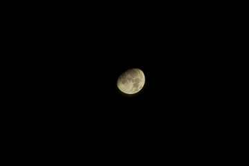 moon on isolated black background composition photography