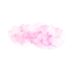 Hand painted pink vector soft texture isolated on the white background. Usable as a template for cards, invitations and more.