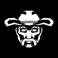 cowboy vector logo