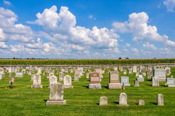 Cemetery in Amish Pennsylvania, USA