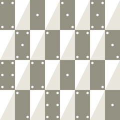 Seamless vector geometric pattern with rectangle as dominoes and triangle