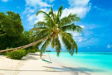 Obraz Beautiful landscape of sandy beach, Maldives - fototapety do salonu