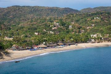Plage de Mazunte vue depuis Punta Cometa, Mexique