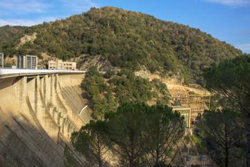 Sau Reservoir in Girona Province, Catalonia, Spain