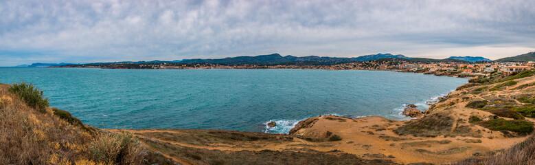 Panorama sur Six-Four-les-Plages et Sanary-sur-Mer du Cap Nègre