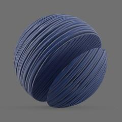 Rough, blue ceramic gloss