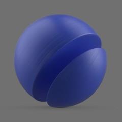 Clean, blue plastic
