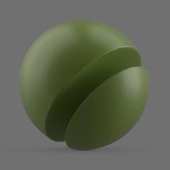 Shiny green plastic