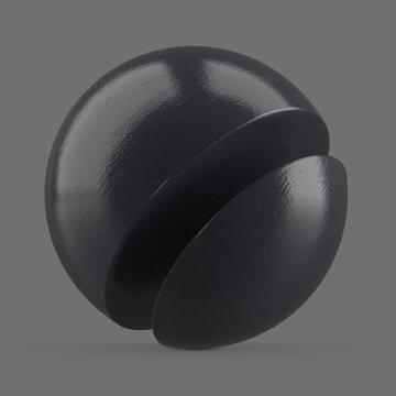 Shiny grey plastic