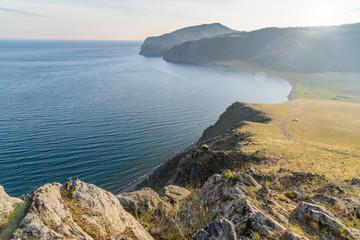 Begul Bay on Lake Baikal. Russia
