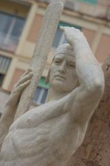 Ritratto la statua del navigatore a Genova