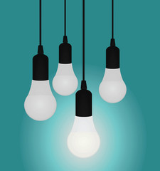 Led bulb. idea concept. vector illustration