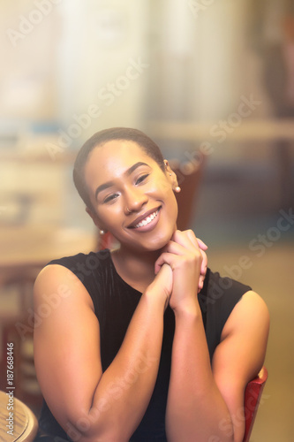 cheerful black woman praying stock photo and royalty free images on