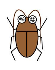 ゴキブリ(色、触覚)