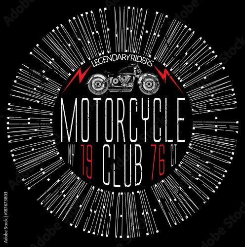 4c6b173ed Vintage Motorcycle T-shirt Graphic