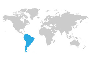 North america continent blue marked in grey silhouette of america see more gumiabroncs Choice Image