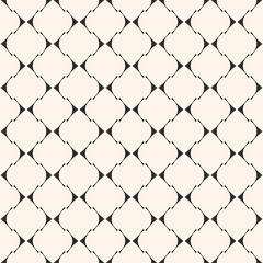 Art deco vector seamless pattern. Texture with thin curved lines, mesh, lattice
