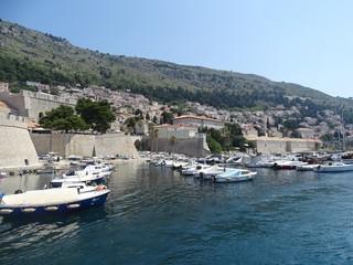 Pier in the historic center of Dubrovnik.