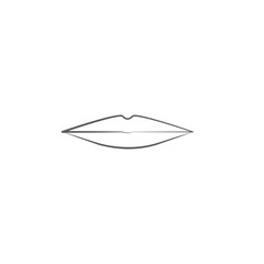 lips icon. Human organs element icon. Premium quality graphic design icon. Baby Signs, outline symbols collection icon for websites, web design, mobile app