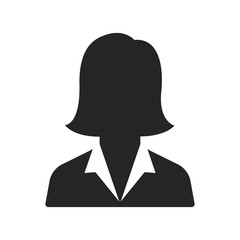 Businesswoman icon vector