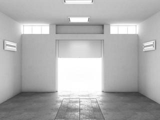 Wall Mural - Interior of an empty garage. 3d illustration