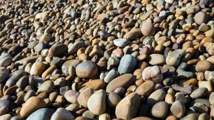 Beach stones and rocks.