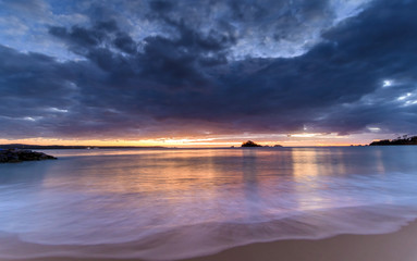 Cloudy Dawn Seascape
