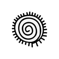 Sun icon  Aztec