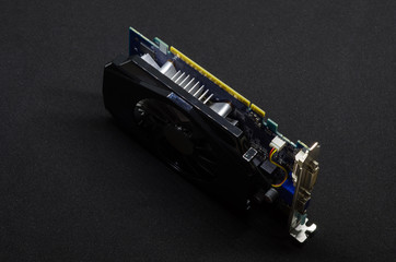 Video Card on a Black Background, PC Hardware