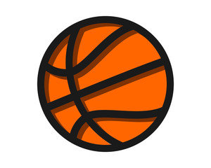 basketball sport image vector icon