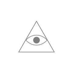 pyramid eye icon. Web element. Premium quality graphic design. Signs symbols collection, simple icon for websites, web design, mobile app, info graphics