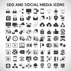 seo and social media icons