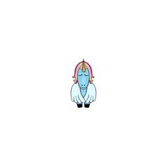 Pegasus cartoon icon