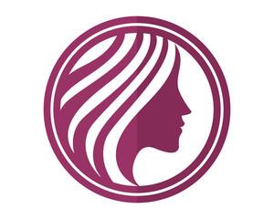 purple woman silhouette icon