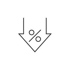 discount icon  Vector illustration, EPS10 .