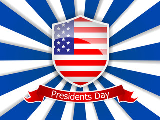 presidents day of usa flag