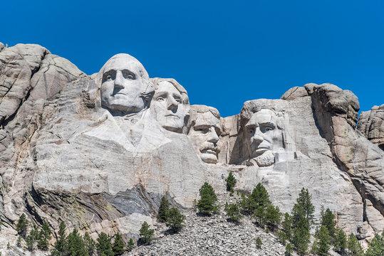 Mount Rushmore Under Blue Sky